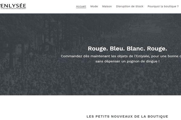 """Ecran d'accueil du site """"Enlysée""""."""