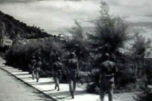 Les soldats américains se dirigent vers Menton en 1944?