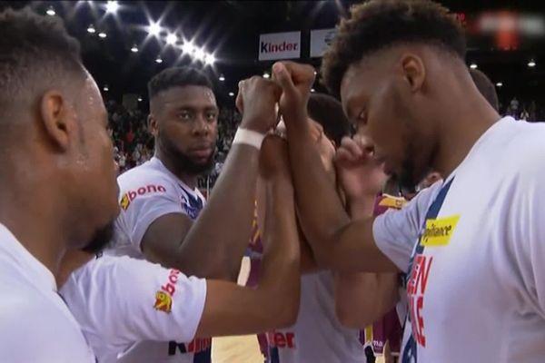 Les basketteurs de Rouen Métropole Basket