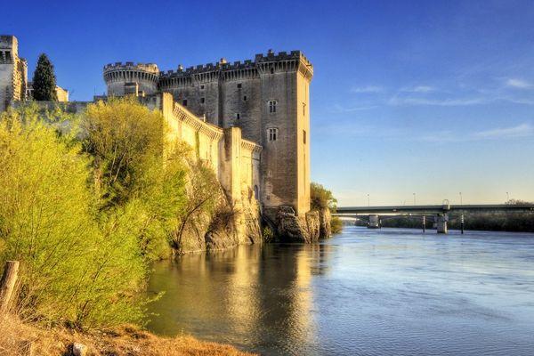 Le château de Tarascon .