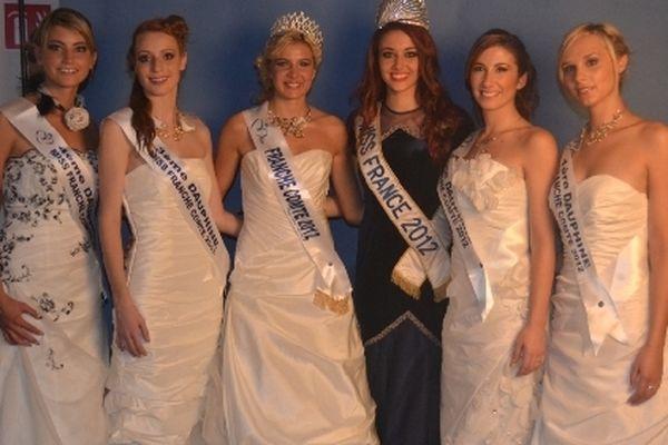 Charlène Michaut, Miss Franche-Comté 2012 et ses dauphines