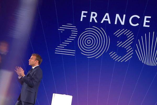 Emmanuel Macron présente son plan France 2030 le 12 octobre 2021 à l'Elysée
