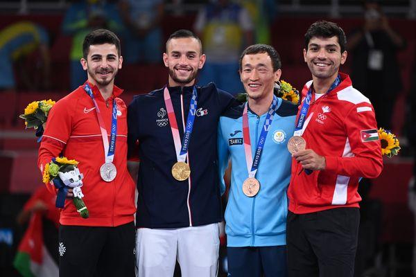Le karatéka lorrain Steven Da Costa, 24 ans, a remporté l'or aux Jeux Olympiques de Tokyo.