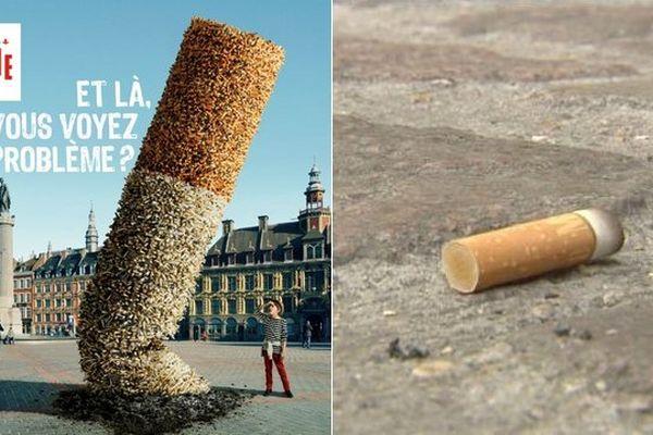 A partir du mois de juin, jeter un mégot de cigarette sur le sol Lillois sera passible d'une amende de 68 euros.