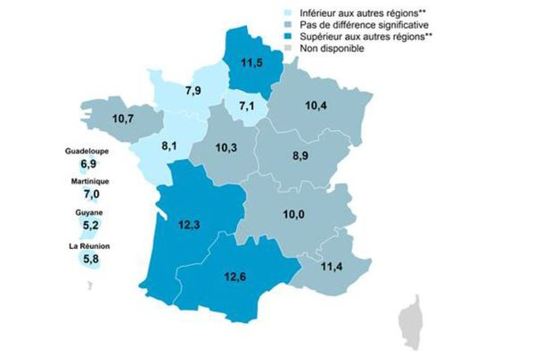 Les trois régions où l'on consomme le plus d'alcool sont, dans l'ordre : l'Occitanie, la Nouvelle-Aquitaine et les Hauts de France.