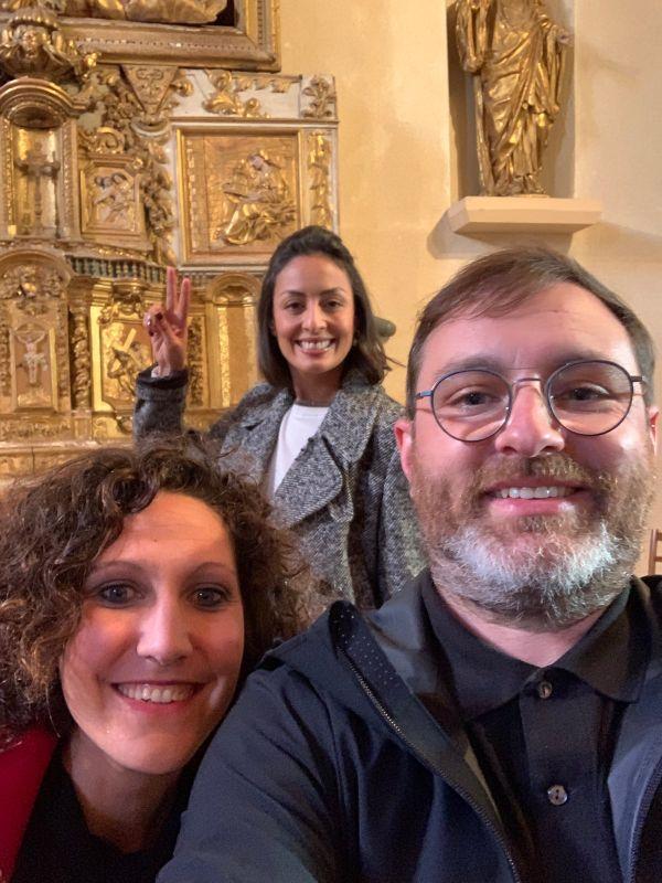 Selfie Leïla Kaddour, Eddie Ladoire et Marina Bellefaye