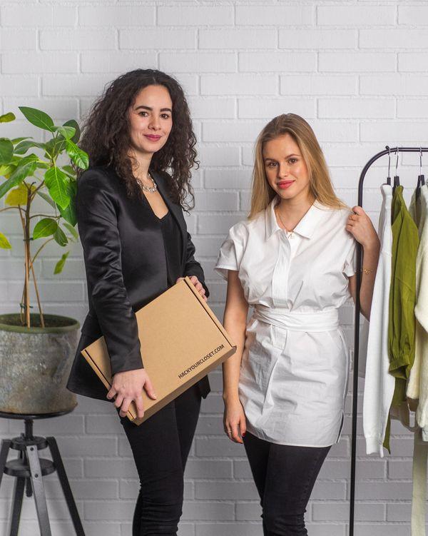 Lisa Gautier (à gauche) co-fondatrice de Hack Your Closet est originaire de Strasbourg