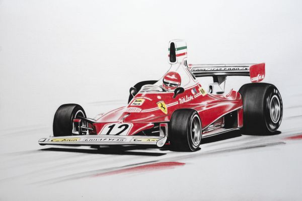 Niki Lauda dans sa Ferrari 312 T.