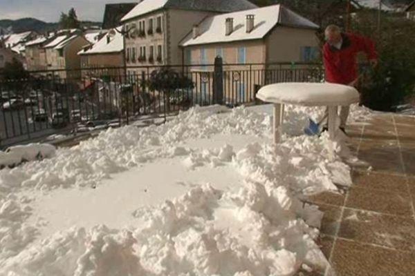 Une neige précoce qui a surpris les habitants