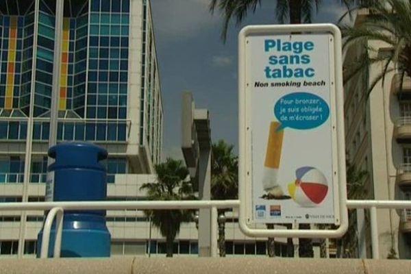 C'est la plage publique située en face de l'hôpital Lenval qui a été choisie pour devenir le deuxième site sans tabac.