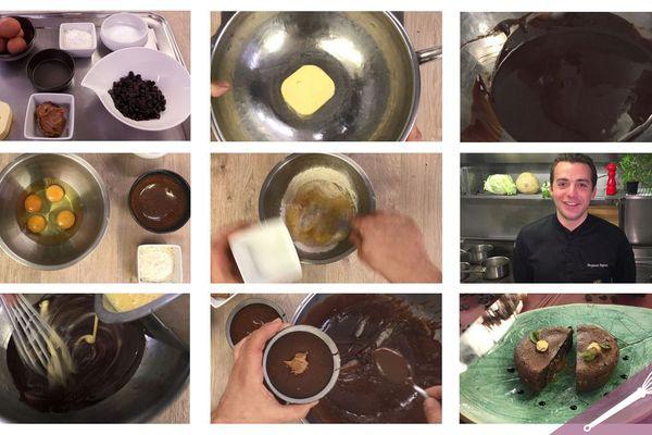 Les grandes étapes des moelleux au chocolat et spéculoos