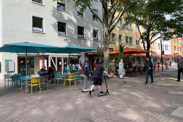 Les rues de Kehl recommencent à s'animer (un peu) ce jeudi 20 mai