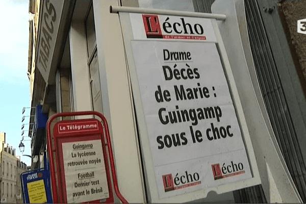 Décès de Marie à Guingamp
