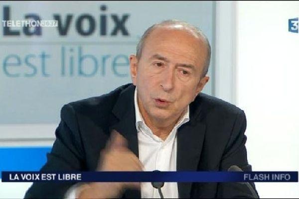 Gérard Collomb sur notre plateau le 06/12/2014