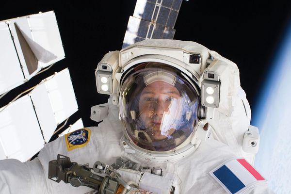 Thomas Pesquet lors de son premier séjour dans l'espace