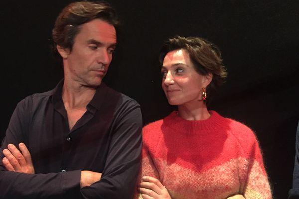 Boris Lojkine et Nina Meurisse lors de l'avant première du film Camille, le 1er octobre 2019