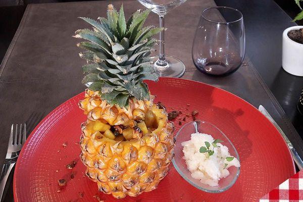 L'ananas et son sorbet à la bière
