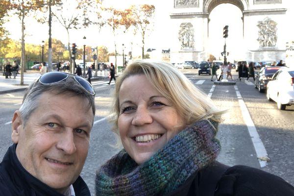Chantal Ruh et Pascal Verdenne lors d'un séjour à Paris. C'était en novembre dernier, quelques semaines avant de croiser la route meurtrière du terroriste, le 11 décembre 2018.