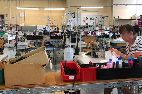 L'atelier de la marque Indiscrète, à Chauvigny, ce lundi 13 août 2018