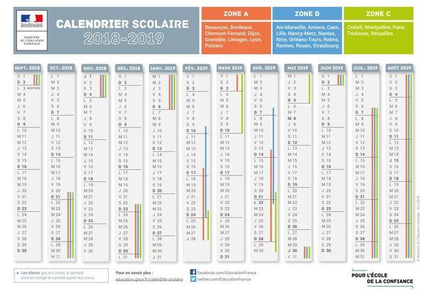 Calendrier Des Vacances Scolaires 2019 Et 2022 Rentrée scolaire : les calendriers des vacances des deux années à