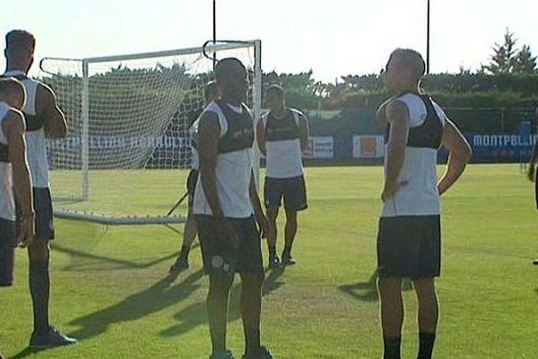 Montpellier - les joueurs du MHSC à l'entraînement - 6 août 2015.