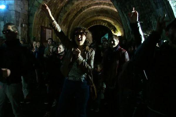 Pour la nuit des musées, on a dansé à la Grande Saline de Salins-les-Bains. Une image de Sébastien Poirier.