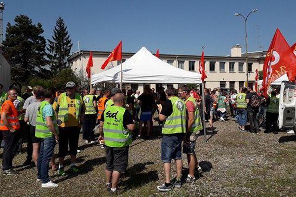 Les syndicats ont appelé à un rassemblement ce mercredi 09 mai 2018 à la gare de triage de Woippy