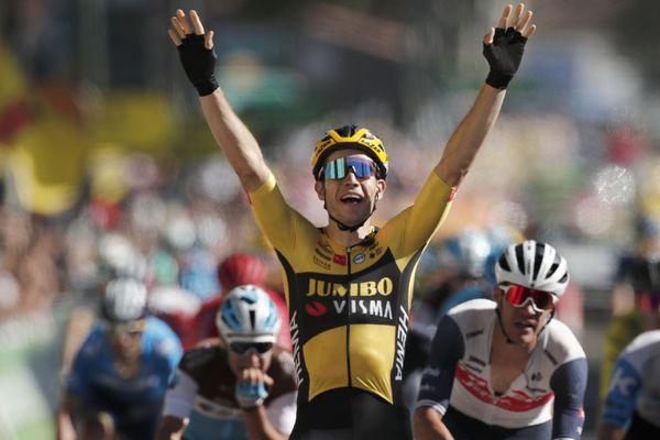 Wout Van Aert, vainqueur de la 7ème étape du Tour de France entre Millau et Lavaur.