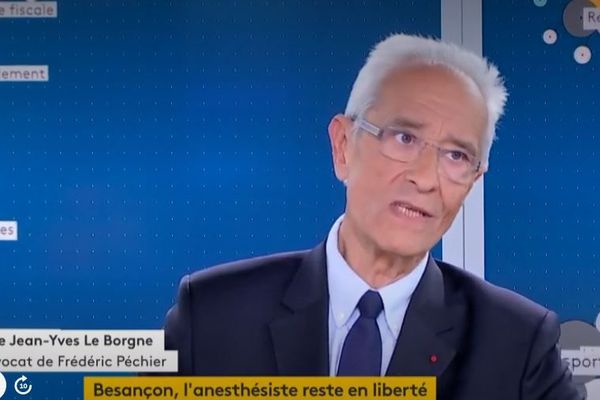 Me Jean-Yves Le Borgne, avocat de l'anesthésiste de Besançon Frédéric Péchier