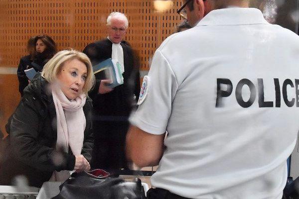Maryse Joissains, le 14 mai dernier, à son arrivée au tribunal de Montpellier.