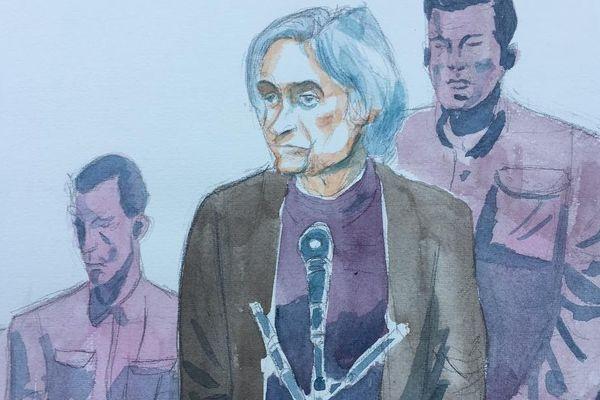 Monique Olivier lors du procès du meurtre de Farida Hammiche à Versailles