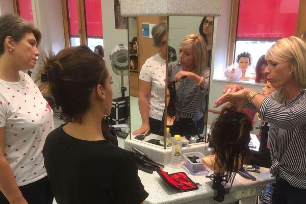 Un centre de formation d'apprentis coiffeurs à Limoges.
