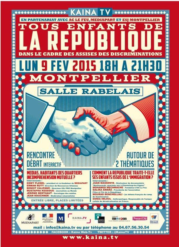 L'affiche des rencontres Tous enfants de la République