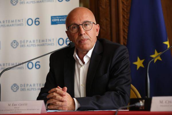 Le député Eric Ciotti est candidat aux élections présidentielles.