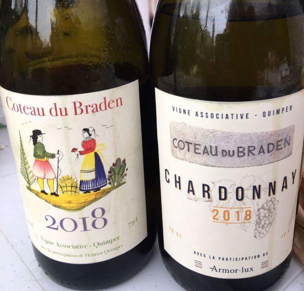 Bouteilles de vin du Coteau du Braden