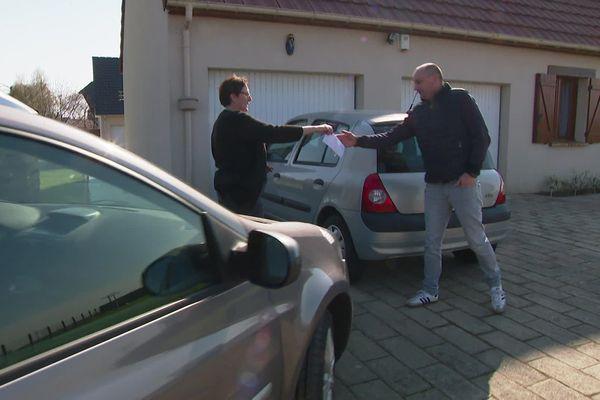 27 mars 2020- Livraison à domicile d'une voiture après travaux de réparation au garage du Havre
