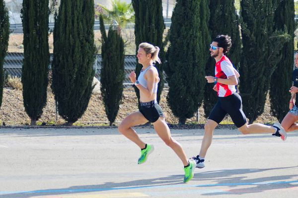 Liv Westphal, à l'entraînement, à Valence en espagne (avril 2021).