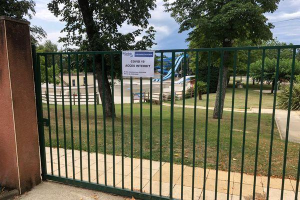 La base de loisirs restera fermée cet été.