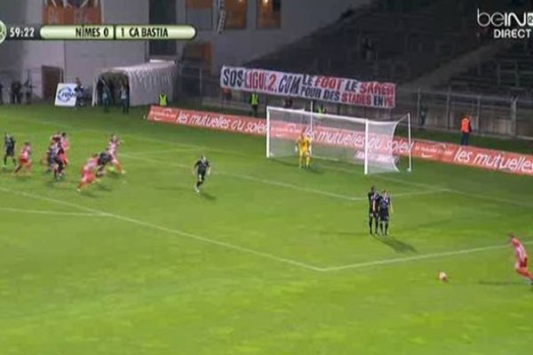 Les Crocos ont perdu un but à zéro contre Bastia, devant leur public