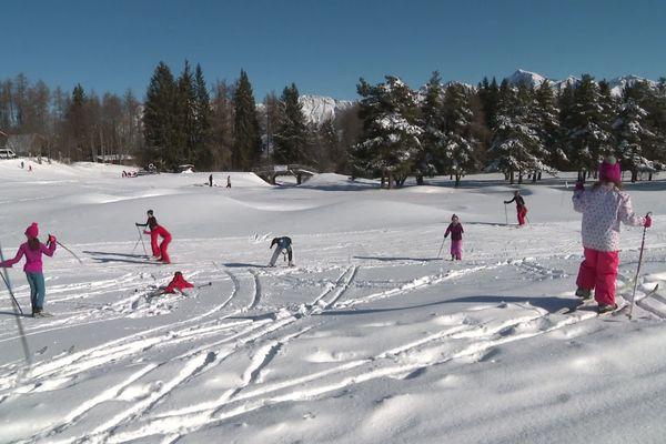 La station de ski Gap-Bayard dans les Hautes-Alpes au début de l'année 2020.