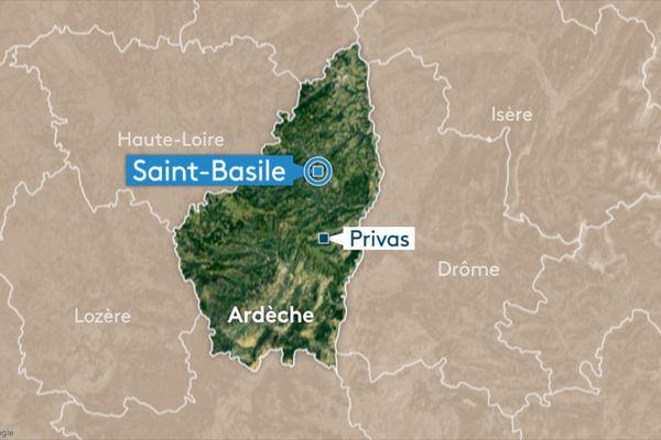 La commune de Saint-Basile, au coeur des monts d'Ardèche