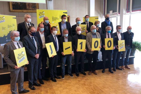 A 100 jours du départ du Tour de France, élus et organisateurs ont pris la pause pour lancer le décompte. Rdv le 26 juin 2021.