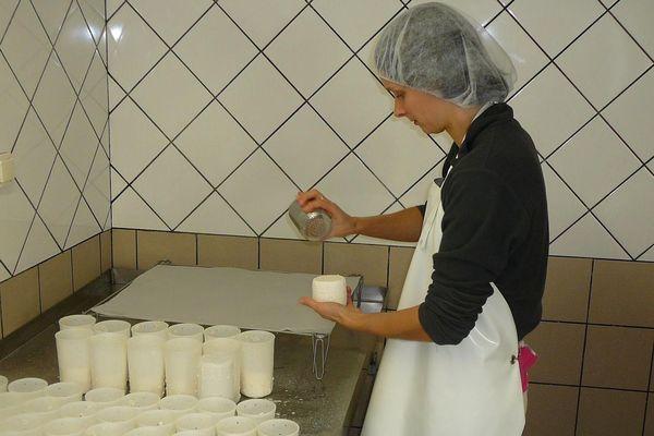 Une centaine de cabécous sont produits chaque jour mais faire un seul fromage demande 10 jours de patience.