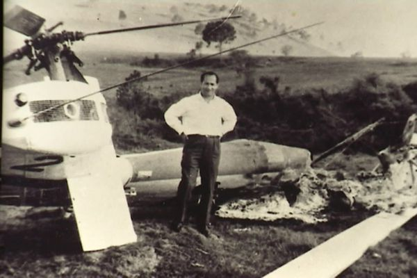 Jean Billaud, pilote d'hélicoptère