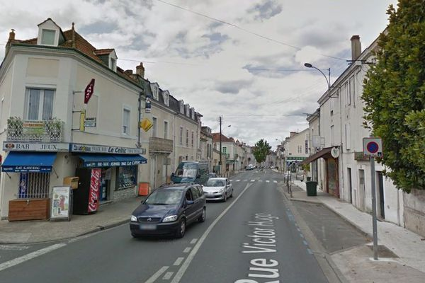 Rue Victor Hugo à Périgueux, lieu de l'agression au couteau