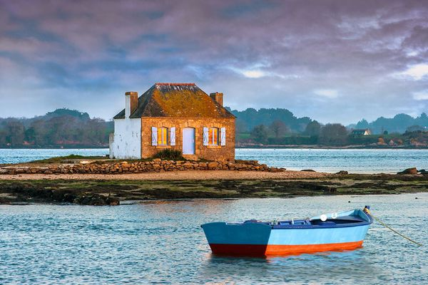 La maison de Saint-Cado sur l'îlot de Nichtarguer - Belz (56)