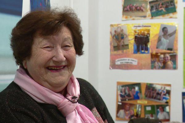 "Madeleine Bernavon dit ""Mado"", fondatrice du club de natation synchronisée de Soissons."