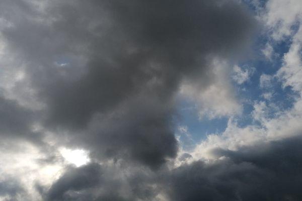 Beau dégradé dans le ciel aujourd'hui