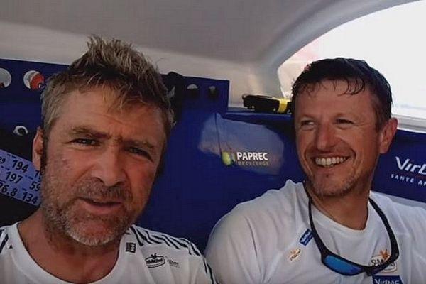 Yann Eliès et Jean-Pierre Dick sont impatients de rallier Salvador de Bahia, en vainqueurs, pour cette Transat Jacques Vabre 2017