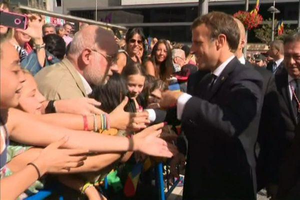 Emmanuel Macron en visite en Andorre en 2019